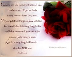 Love does not hurt... #love #quotes