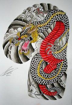 Tattoo dragon japones half sleeves 21 ideas for 2019 Dragon Japanese Tattoo, Koi Dragon Tattoo, Japanese Dragon Tattoos, Japanese Tattoo Art, Japanese Sleeve Tattoos, Dragon Tattoo Half Sleeve Designs, Half Sleeve Tattoos Drawings, Tattoo Tradicional, Tattoo Sites