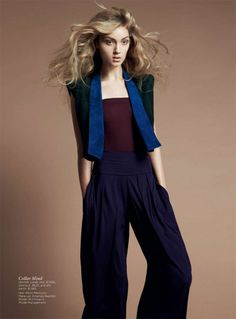 MJ Johannsen by Nicole Bentley in Hermès for Vogue Australia April 2012