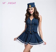 Sexy Sailor Costume Women navy dress sexy uniforms sailorgirl Captain uniform clubwear temptation wear Marine Costumes Dress Up Yacht Halloween Costume Party