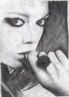 Pencil Drawing #pencil #blackandwhite #woman #face #hair #hands #eyes #beautiful