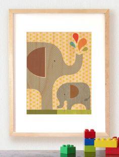 Elephant Baby ~ Veneer Print