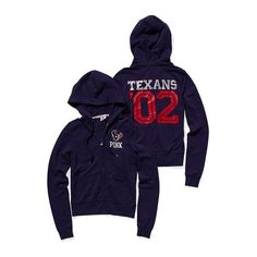 Victoria'S Secret Houston Texans Bling Zip Hoodie ($40) found on Polyvore
