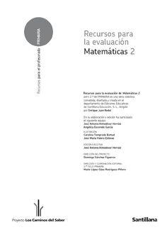 Matematicas 2 primaria Evaluacion