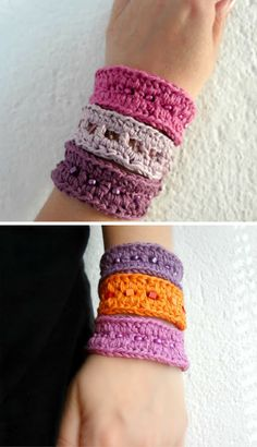 Ladder Stitch Bracelets - free crochet pattern (a cute summer accessory!)