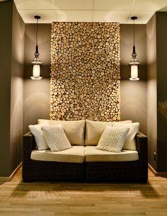 Home Decor Wall Art, Home Decor Bedroom, Diy Home Decor, Cordwood Homes, Wooden Panelling, Showroom Interior Design, Wood Mosaic, Floor Design, Interior Design Inspiration