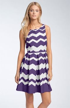 Taylor Dresses 'Zigzag' Fit & Flare Dress available at #Nordstrom