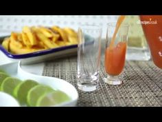 Next time you're having friends round, serve guacamole and tortilla chips, shots of tequila and this -- Sangrita. Not to be confused with sangria, sangrita is a classic Mexican chaser served with tequila. It's easy to do and adds a kick to any party!