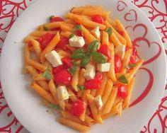 Pasta piccante con mozzarella e pomodorini- #Wonderfooditaly #FrancescoBruno
