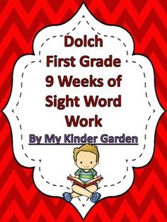 This packet uses the Dolch First Grade word list in order of highest frequency. There are four words from second grade list as I group them in sets of five. This packet can be used in class as daily work or can be sent home for homework as a weekly packet. It can also be sent home for work over the summer.