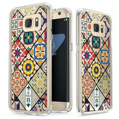 Colorful Portuguese Diagonal Tiles [v2] Slim Protective Case for Galaxy S7 Edge