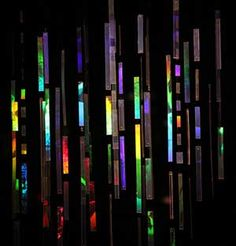 """""""Light Rain"""" Holographic installation by Betsy Connors."""