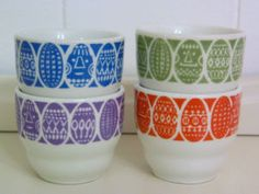 egg cups Arabia finland