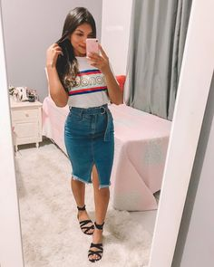 Trendy How To Wear Skirts Casually Jeans Ideas Midi Skirt Outfit, Casual Skirt Outfits, Mom Outfits, Modest Outfits, Classy Outfits, Modest Fashion, Chic Outfits, Trendy Outfits, Trendy Fashion