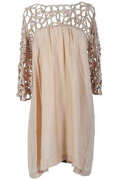 Macramé Maven Dress in Mocha