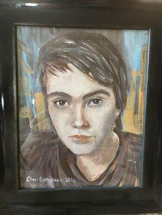 Portrait in acrylpaint by Ellen Barbakken