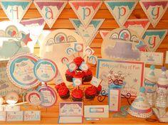 Tutus And Tiaras Printable Party Supplies | Birthday | Baby Shower