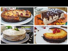 4 TARTAS FÁCILES Y RIQUÍSIMAS Postres en 5 minutos !!! - YouTube French Toast, Cheesecake, Chocolate, Quiches, Breakfast, Youtube, Desserts, Food, Cream Cookies