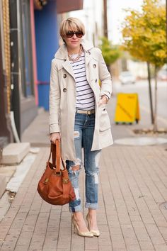 Distressed Trench