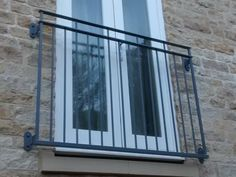 galvanized and polyester powder coated mild steel Byron Juliette Balcony Juliette Balcony, Balcony Window, Iron Balcony, French Balcony, Balcony Railing Design, Fitted Bedrooms, Iron Windows, Front Deck, Apartment Balconies
