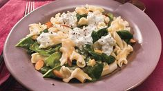 Campanelle Pasta with Burrata Cheese and Spinach Recipe | Bon Appetit