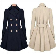 Women Slim Long Double Breasted Coat Work Blazer Suit Outwear Jacket Dress Top - Ideas of Women Jacket Winter Coats Women, Coats For Women, Jackets For Women, Outerwear Women, Outerwear Jackets, Langer Mantel, Double Breasted Coat, Trench Coats, Women's Coats