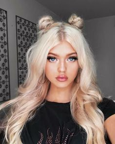 Loren gray fashion, style и hair Grey Makeup, Hair Makeup, Loren Grau, Princess Leia Buns, Hair Color 2018, 2018 Color, Cute Hairstyles, Hair Goals, Blonde Hair
