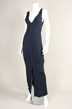 1970's Jean Muir Matte Jersey Dress | From a collection of rare vintage evening dresses at https://www.1stdibs.com/fashion/clothing/evening-dresses/