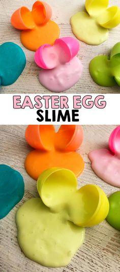 Easter Egg Slime Recipe - I Heart Arts n Crafts Mason Jar Chandelier, Mason Jar Lighting, Diy Hanging Shelves, Diy Wall Shelves, Easter Crafts, Fun Crafts, Crafts For Kids, Dollar Tree Storage Bins, Easter