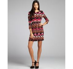http://vcrid.com/ali-ropink-and-brown-printed-jersey-knit-three-quarter-sleeve-dress-p-2362.html
