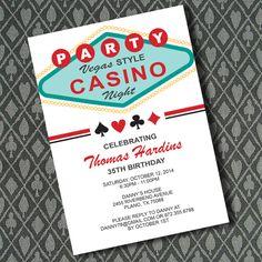 Vegas Casino Night Invitation Template 1
