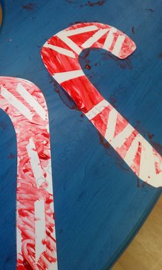 Getting Messy With Ms. Jessi: Candy Cane Art