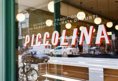 First Look: Piccolina's Polished New Collingwood Gelato Temple - Broadsheet Typography Design, Branding Design, Logo Design, Pub Design, Signage Design, Graphic Design, Corporate Design, Gelato Shop, Window Signage