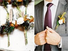 rustic groom boutonniere | CHECK OUT MORE IDEAS AT WEDDINGPINS.NET | #bridesmaids