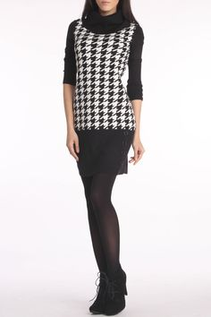 Black & White Houndstooth Dress.