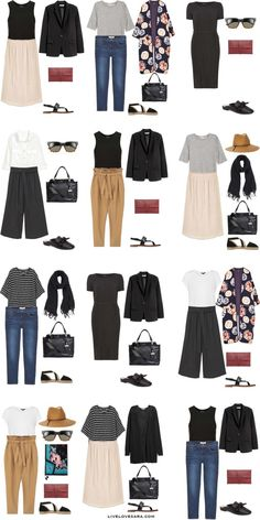 What to Wear in Dubai UAE Outfit Options 13-24 Packing Light List #packinglist #packinglight #travellight #travel #livelovesara