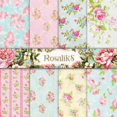 Baby Digital Papers Baby Shower Paper Floral Paper by rosaliks