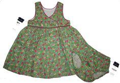 NWT Ralph Lauren Baby Girls Polo Floral Dress & Panty Set Empire Waist    #RalphLauren #DressyEverydayHolidayPageantWedding