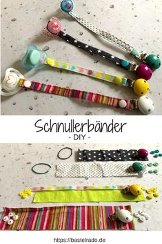 Sew pacifier strap yourself - I'll show you how!- Pacifier straps for sewing yourself. So that will finally end. Sewing Projects For Beginners, Knitting For Beginners, Sewing Tutorials, Sewing Hacks, Sewing Patterns, Sewing Tips, Baby Diy Projects, Baby Set, Diy Home Crafts