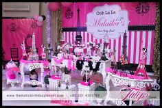 Ooh la la Fashionista Paris Themed Party for girls in Pakistan. Eiffel tower models pink and black themed ambaince, paris photo booth, photo props and more ... ‪#‎Fashionistaparty‬ ‪#‎FashionistaParistheme‬ ‪#‎paristhemeparty‬ ‪#‎tulipsevents‬ ‪#‎partyideas‬ ‪#‎oohlalapartytheme‬ ‪#‎girlsparties‬ ‪#‎birthdaypartytheme‬ Designed and Arranged by: www.thematicbirthdayplanner.com A Part of: www.tulipsevents.com