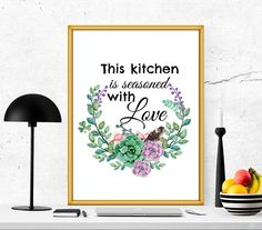 $4 Kitchen printable kitchen quote kitchen print by SoulPrintables