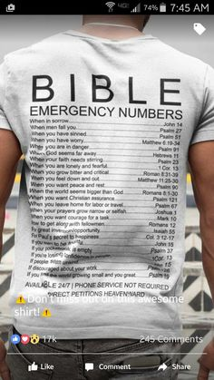 Bible Emergency Numbers T-Shirt Prayer Quotes, Bible Verses Quotes, Jesus Quotes, Bible Scriptures, Spiritual Quotes, Faith Quotes, Christian Memes, Christian Life, Mini Texto