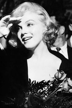 Marilyn receiving the David di Donatello Award for Best Foreign Actress in The Prince and the Showgirl, 1959