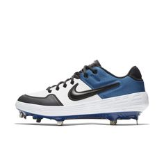 b01df6a886f1 Nike Alpha Huarache Elite 2 Low Baseball Cleat Size 10.5 (White)