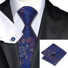 Подарочный галстук темно-синий с коричневый - купить в Киеве и Украине по недорогой цене, интернет-магазин