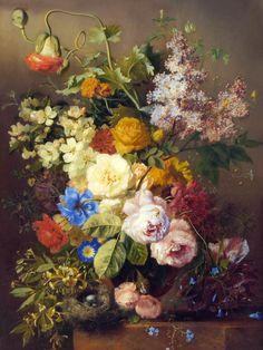 Georgius Jacobus Johannes van Os [1782-1861], pintor holandés , fue un siglo 19 pintor de flores de Holanda del Norte. De acuerdo con el RK...