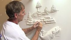 I've never seen anybody make art out of drywall compounds before, and it's incredible. This guy makes amazing sculptures on ordinary walls that catch the light in the most spectacular way. You've got to see his one-of-a-kind drywall sculptures.