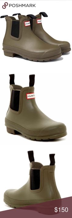 Hunter Boots Hunter Boots.  New with tag.  Ankle rain or winter boots in a dark green color. Hunter Boots Shoes Winter & Rain Boots