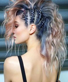 Braids and ponytail hair style