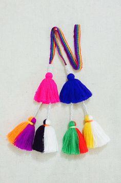 Colorful Peruvian Tassels -  Pom Poms Handmade